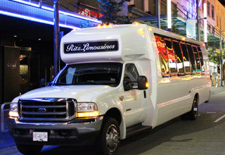 Vancouver airport party bus service